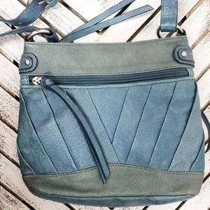 Coldwater Creek • Teal Blue Leather Crossbody bag